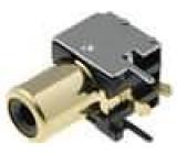Zásuvka RCA zásuvka stíněný úhlové 90° THT zlacený