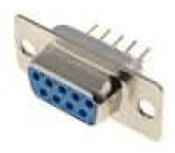 Zásuvka D-Sub 9 PIN zásuvka přímý THT zlacený