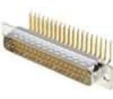 Zásuvka D-Sub 37 PIN vidlice bez krytu, standard 9,4mm THT