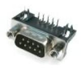 Zásuvka D-Sub 9 PIN vidlice standard 7,2mm zajištění šroubky