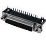 Zásuvka D-Sub 25 PIN zásuvka standard 7,2mm úhlové 90° THT