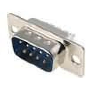 Zástrčka D-Sub 9 PIN vidlice pájení na kabel gold flash