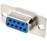 Zástrčka D-Sub 9 PIN zásuvka pájení na kabel gold flash