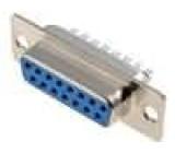 Zástrčka D-Sub 15 PIN zásuvka pájení na kabel gold flash