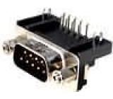 Zásuvka D-Sub 9 PIN vidlice zajištění šroubky úhlové 90° THT