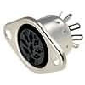 Zásuvka DIN zásuvka 8 PIN vývody 270° přímý pájení
