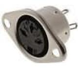 Zásuvka DIN zásuvka 3 PIN vývody 180° přímý pájení