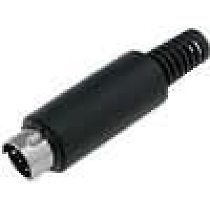 Vidlice MINI DIN 6 kolíků na kabel samec