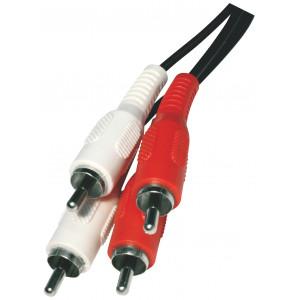 RCA kabel 2 RCA vidlice - 2 RCA vidlice délka 5,0 m