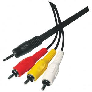 3,5 mm kabel 3,5 mm vidlice - 3 RCA vidlice délka 1,5 m