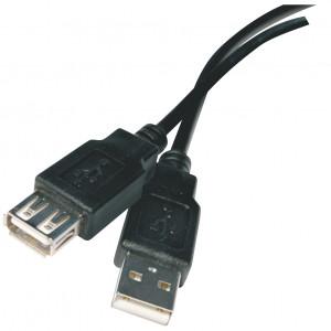 Kabel USB 2.0 A/M - A/F 2M