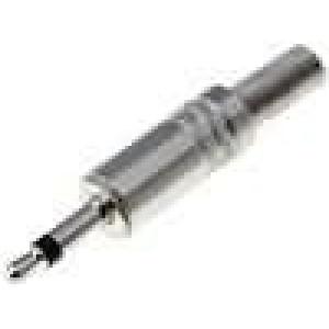 Zástrčka Jack 3,5 mm vidlice mono přímý na kabel pájení