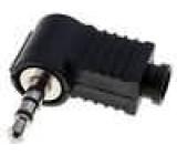 Zástrčka Jack 3,5 mm vidlice stereo úhlové 90° na kabel