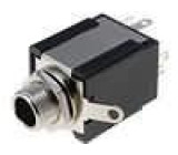 Zásuvka Jack 6,3 mm stereo, s vypínačem, rozpínací kontakty