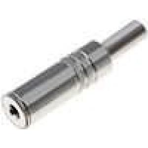 Zástrčka Jack 3,5 mm zásuvka mono, s ochranou kabelu přímý