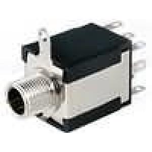 Zásuvka Jack 6,3 mm stereo, s vypínačem, přepínací kontakty