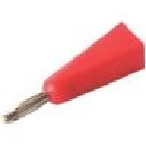 Zástrčka banánek 2mm Jmen.proud:5A červená Připojení pájení