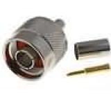 Zástrčka N vidlice přímý RG59 6,5mm zasouvací, krimpovací