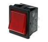 Přepínač DPST ON-OFF 16A 220V podsvětlený červený