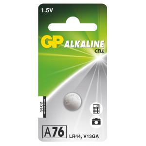 Alkalická knoflíková baterie GP LR44 (A76), 1 ks v blistru