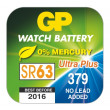 Knoflíková baterie do hodinek GP 379F (SR63, SR521)
