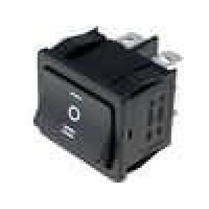 Kolébkový přepínač 2 póly 3 polohy ON-OFF-ON, 6A 250VAC