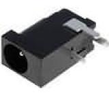 Zásuvka napájecí DC vidlice 1mm úhlový s vypínačem THT
