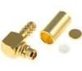 Zástrčka MMCX vidlice úhlové 90° 50Ω krimpovací na kabel