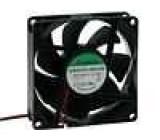 Ventilátor 12VDC 80x80x25mm 69,7m3/h 33dBA kuličkové 1,7W