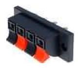 4x svorka pro reproduktorové kabely, velká