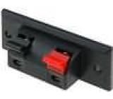 2x svorka pro reproduktorové kabely
