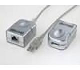 Repeater USB RJ45 zásuvka - USB-A zásuvka