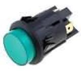 Tlačítkový spínač prosvětlený 2x spín. ON-OFF zelený