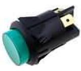 Tlačítkový spínač prosvětlený 2x spín. OFF-(ON) zelený