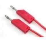 MLNSIL150/1RT Měřicí šňůra silikon 1,5m červená 16A 60VDC