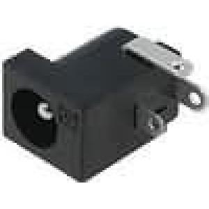 Zásuvka napájecí DC vidlice 5,5mm 2,5mm úhlový s vypínačem
