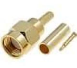 Zástrčka SMA vidlice přímý RG174 krimpovací na kabel zlacený