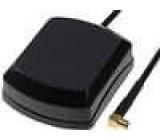 GPS anténa vnitřní MMCX-D zásuvka úhlový kabel 5m magnet