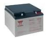 Aku baterie kyselino-olověné 12V 24Ah 166x175x125mm