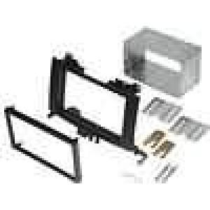 Rámeček pro autorádio 2 DIN Mercedes Sprinter 2006->, VW Crafter ->2006 černá
