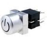 Mikrospínač 2 polohy DPDT 0,1A/30VDC THT LED modrá 1,5N