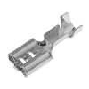 Konektor plochý 6,3mm 0,8mm zásuvka 1-2,5mm2 krimpovací