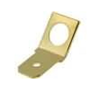 Konektor plochý 6,3mm 0,8mm kolík M5 šroubovací mosaz