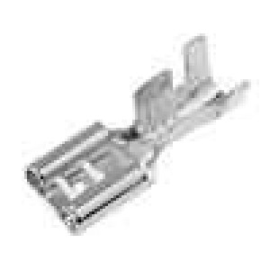 Konektor plochý 6,3mm 0,8mm zásuvka 4-6mm2 krimpovací