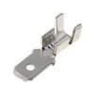 Konektor plochý 6,3mm 0,8mm kolík 4-6mm2 krimpovací na kabel