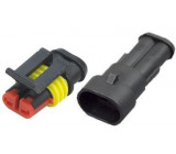 Konektor se zdířkou DJ7021-1.5-11+DJ7021-1.5-21 2P vodotěsný