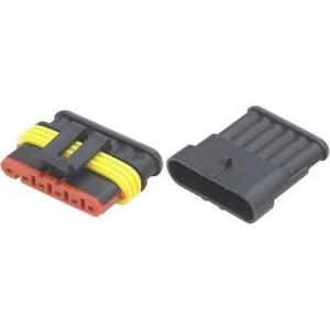 Konektor se zdířkou DJ7061-1.5-11+DJ7061-1.5-21 6P vodotěsný