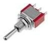 Přepínač páčkový SP3T 5A/125V očka 10,34mm