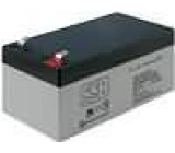 Aku baterie kyselino-olověné 12V 3,4Ah 134x67x60mm