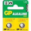 GP 186 (AG12, LR43, LR1142, V12GA), 1,5V